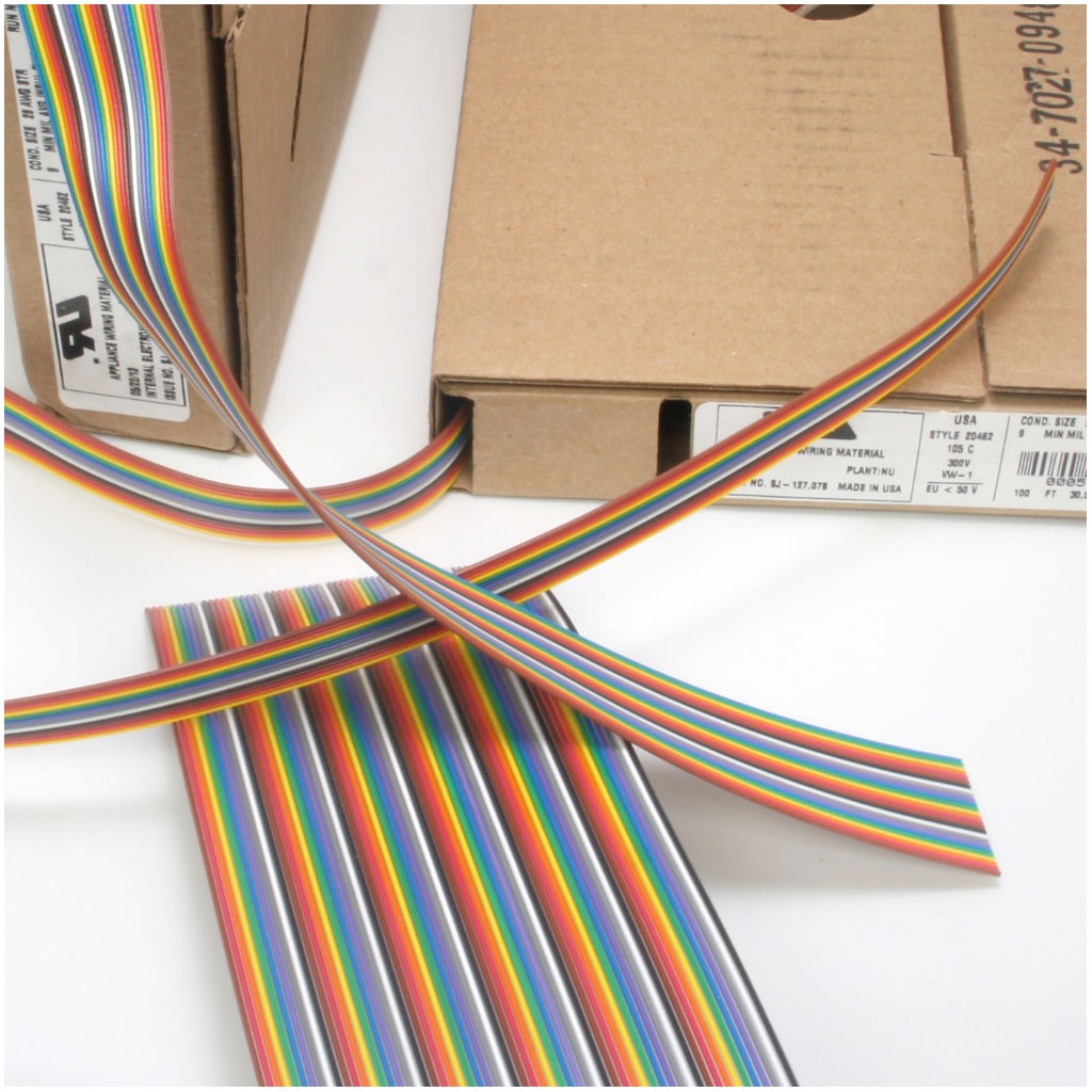 Color-Coded Flat Ribbon Cable on